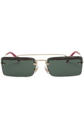 Солнцезащитные очки Miu Miu темно-серые | Фото №3