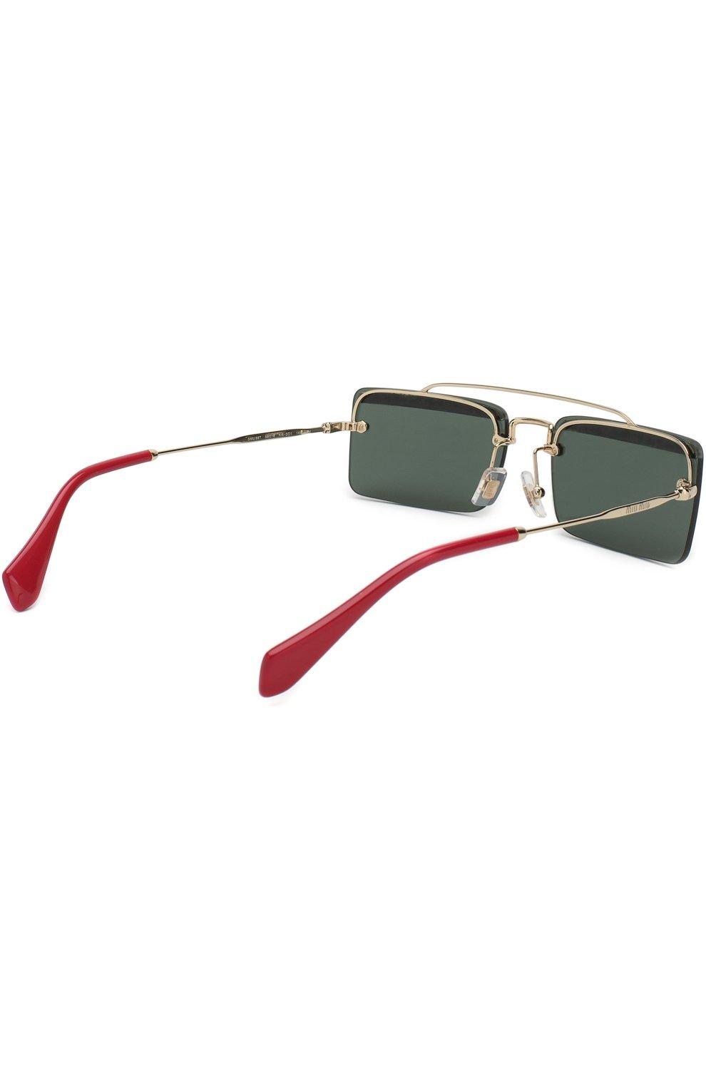 Солнцезащитные очки Miu Miu темно-серые | Фото №4