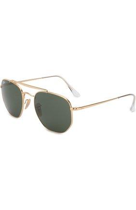 Мужские солнцезащитные очки RAY-BAN золотого цвета, арт. 3648-001 | Фото 1