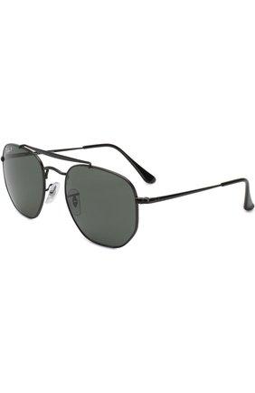 Мужские солнцезащитные очки RAY-BAN черного цвета, арт. 3648-002/58 | Фото 1