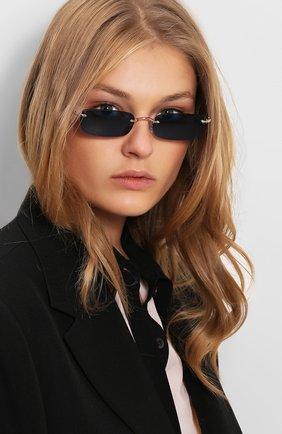 Женские солнцезащитные очки OLIVER PEOPLES темно-синего цвета, арт. 1243S-503780 | Фото 2