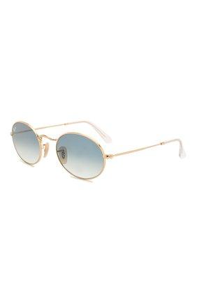 Женские солнцезащитные очки RAY-BAN голубого цвета, арт. 3547N-001/3F   Фото 1