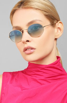 Женские солнцезащитные очки RAY-BAN голубого цвета, арт. 3547N-001/3F   Фото 2