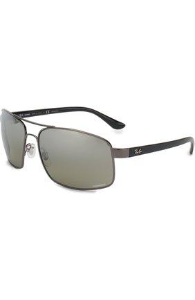 Мужские солнцезащитные очки RAY-BAN серого цвета, арт. 3604CH-004/5J | Фото 1
