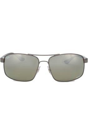 Мужские солнцезащитные очки RAY-BAN серого цвета, арт. 3604CH-004/5J | Фото 2