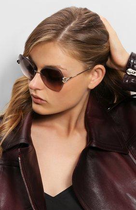 Солнцезащитные очки BVLGARI светло-коричневые | Фото №1