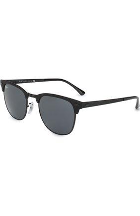 Мужские солнцезащитные очки RAY-BAN черного цвета, арт. 3716-186/R5 | Фото 1