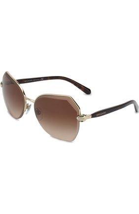 Солнцезащитные очки BVLGARI коричневые | Фото №1