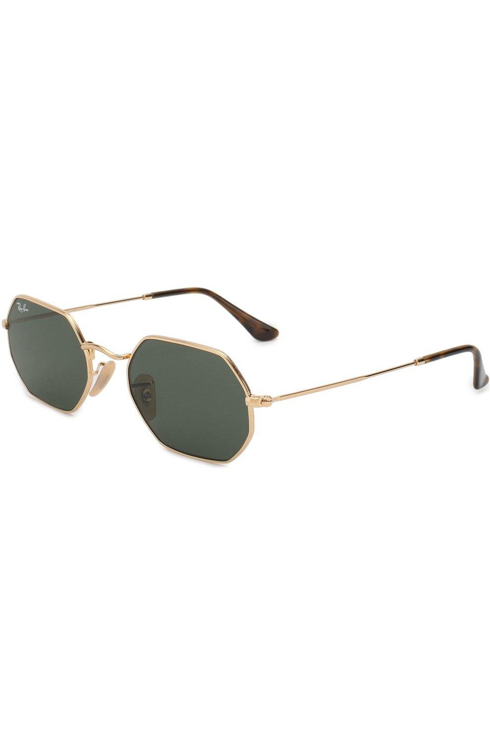 Женские солнцезащитные очки RAY-BAN золотого цвета, арт. 3556N-001 | Фото 1