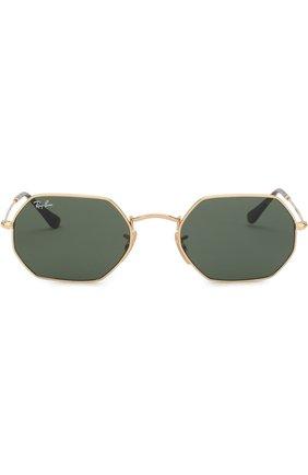 Женские солнцезащитные очки RAY-BAN золотого цвета, арт. 3556N-001 | Фото 3