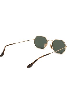 Женские солнцезащитные очки RAY-BAN золотого цвета, арт. 3556N-001 | Фото 4