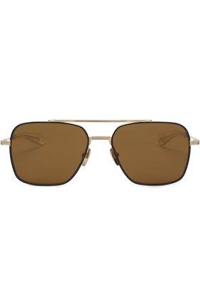 Солнцезащитные очки Dita золотые | Фото №1
