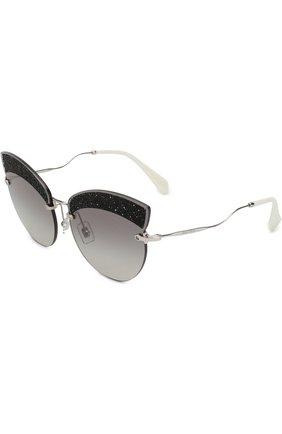 Солнцезащитные очки Miu Miu светло-серые | Фото №1