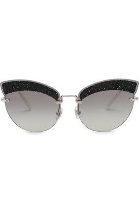 Солнцезащитные очки Miu Miu светло-серые | Фото №3