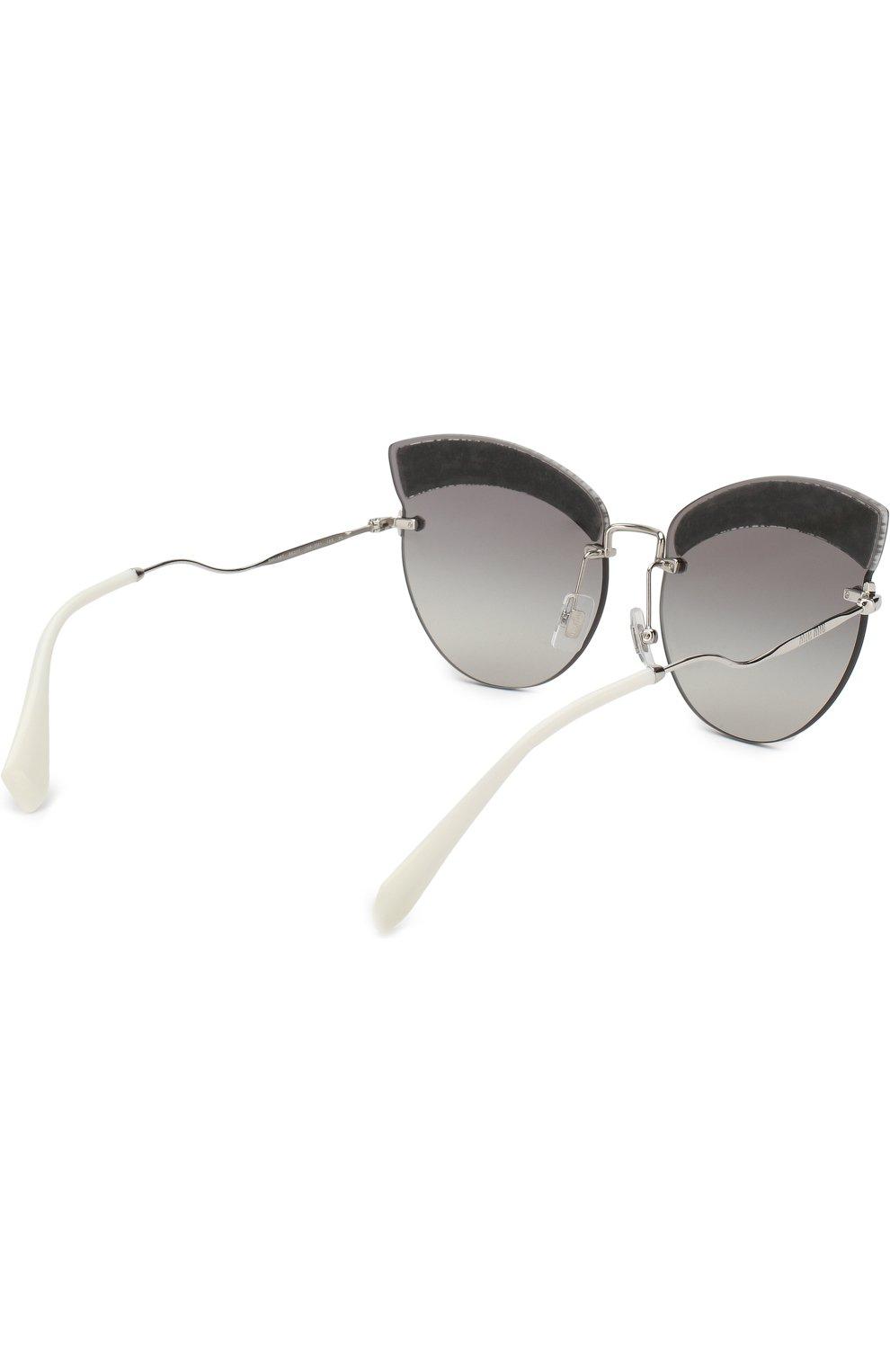 Солнцезащитные очки Miu Miu светло-серые | Фото №4