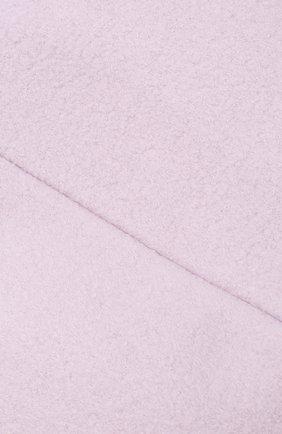Шерстяной берет с декоративной сеточкой Maison Michel розового цвета   Фото №3