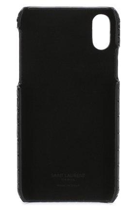 Кожаный чехол для iPhone X Saint Laurent    Фото №2