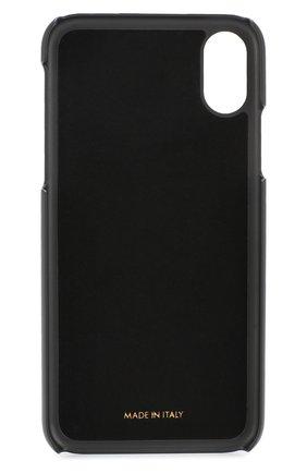 Кожаный чехол для iPhone X с принтом | Фото №2