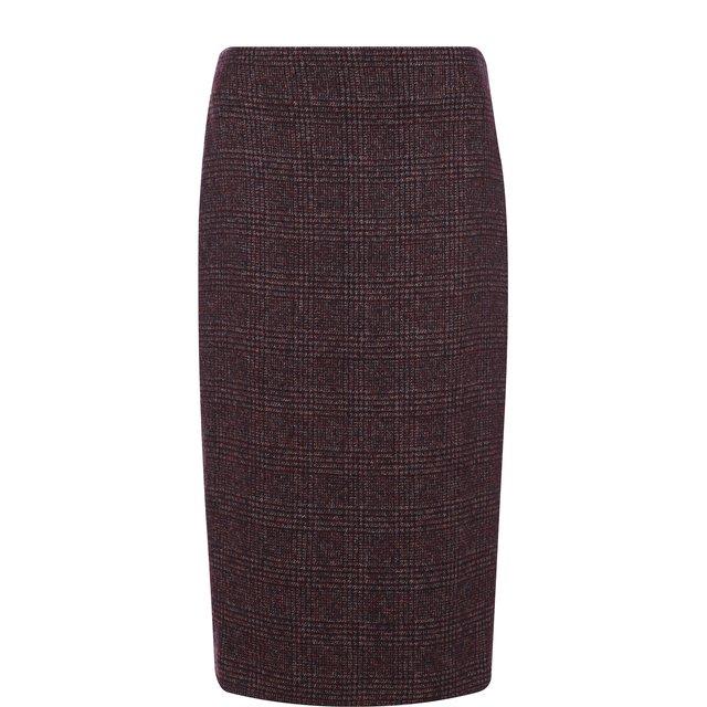 Вязаная юбка из смеси шерсти и кашемира с шелком Kiton