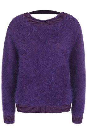 Однотонный пуловер с открытой спиной | Фото №1