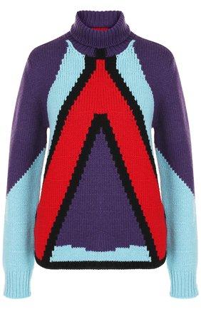 Вязаный кашемировый пуловер с воротником-стойкой | Фото №1