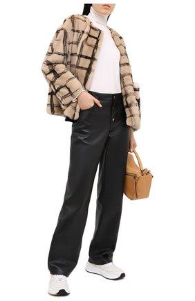 Норковая шуба с накладными карманами | Фото №2