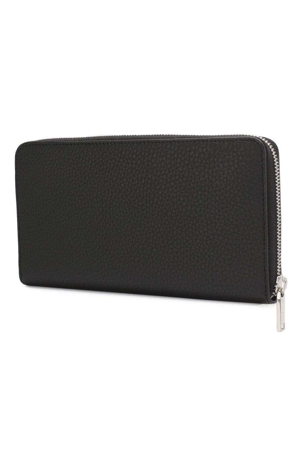 Мужской кожаное портмоне BOSS черного цвета, арт. 50390389 | Фото 2