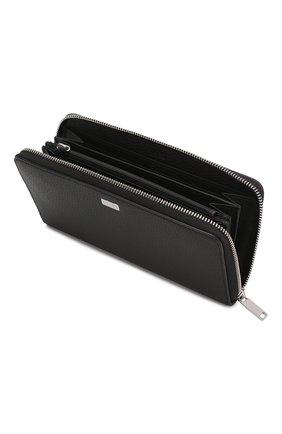Мужской кожаное портмоне BOSS черного цвета, арт. 50390389 | Фото 3
