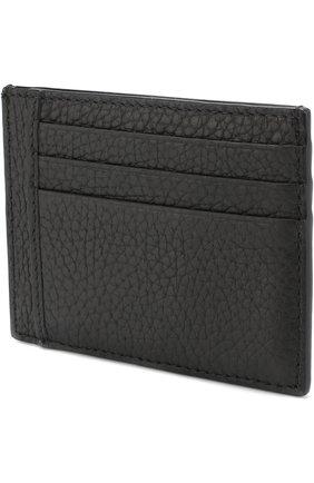 Мужской кожаный футляр для кредитных карт BOSS черного цвета, арт. 50390405 | Фото 2