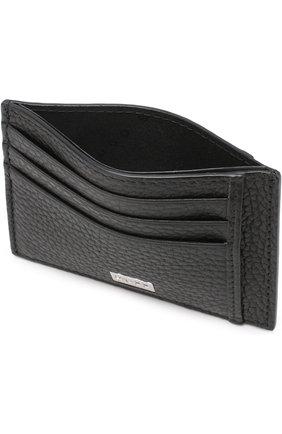 Мужской кожаный футляр для кредитных карт BOSS черного цвета, арт. 50390405 | Фото 3
