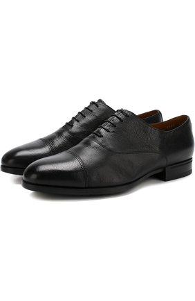 Классические кожаные оксфорды Doucal's черные | Фото №1