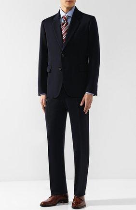 Мужской кожаные дерби на шнуровке BRIONI светло-коричневого цвета, арт. QEEQ0L/P6757 | Фото 2