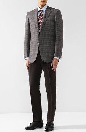 Мужские кожаные монки с двумя пряжками BRIONI черного цвета, арт. QXB90L/07733 | Фото 2