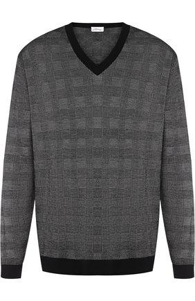 Кашемировый пуловер в клетку | Фото №1