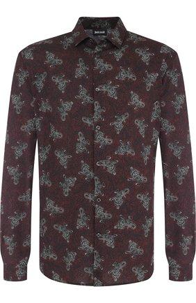 Сорочка из вискозы с принтом Just Cavalli красная | Фото №1