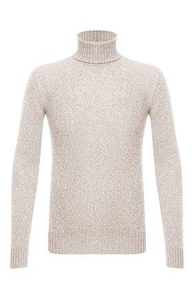 Мужской кашемировый свитер LORO PIANA светло-бежевого цвета, арт. FAG3513 | Фото 1