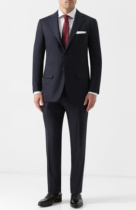 Мужской шерстяной костюм KITON синего цвета, арт. UA81K01270 | Фото 1
