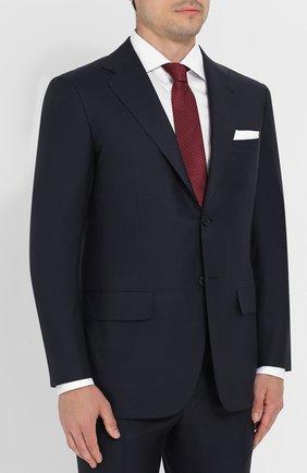 Мужской шерстяной костюм KITON синего цвета, арт. UA81K01270 | Фото 2