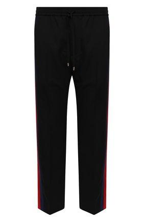 Мужской шерстяные брюки GUCCI черного цвета, арт. 493714/Z6903 | Фото 1