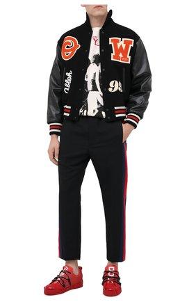 Мужской шерстяные брюки GUCCI черного цвета, арт. 493714/Z6903 | Фото 2