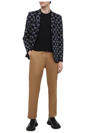 Мужской однобортный хлопковый пиджак с принтом GUCCI синего цвета, арт. 521889/Z372F | Фото 2