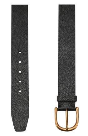 Мужской кожаный ремень с металлической пряжкой TOM FORD черного цвета, арт. TB210M-CM1 | Фото 2