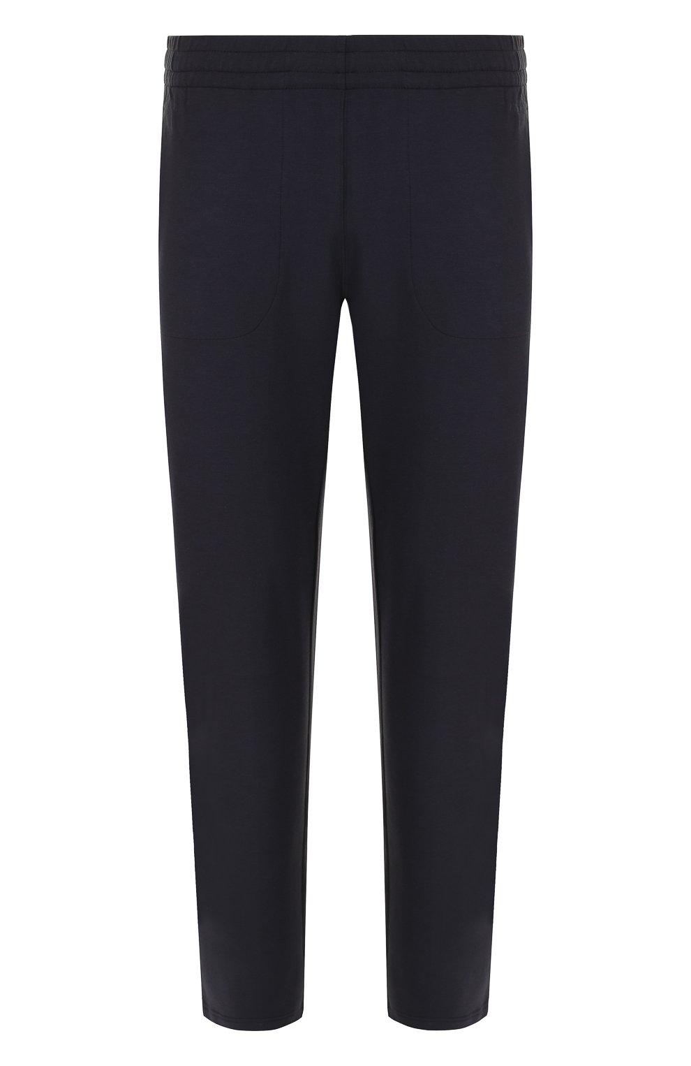 Мужские брюки прямого кроя из смеси хлопка и вискозы Z ZEGNA темно-синего цвета, арт. V8451/ZZP16 | Фото 1
