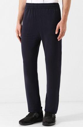 Мужские брюки прямого кроя из смеси хлопка и вискозы Z ZEGNA темно-синего цвета, арт. V8451/ZZP16 | Фото 3