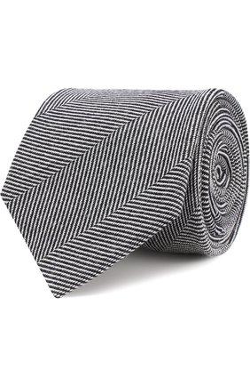 Галстук с узором из смеси шерсти и шелка | Фото №1