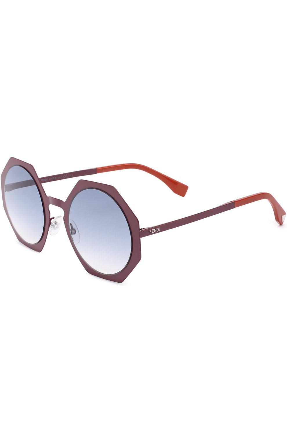 Женские солнцезащитные очки FENDI бордового цвета, арт. 0152 0M8 | Фото 1