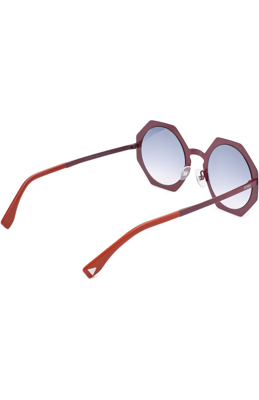 Женские солнцезащитные очки FENDI бордового цвета, арт. 0152 0M8 | Фото 3