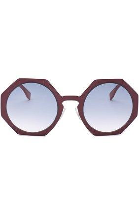 Женские солнцезащитные очки FENDI бордового цвета, арт. 0152 0M8 | Фото 4