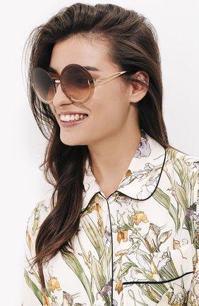 Солнцезащитные очки Victoria Beckham светло-коричневые | Фото №1