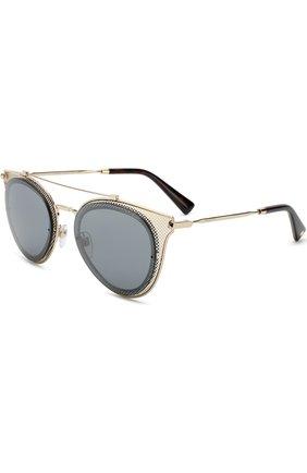 Женские солнцезащитные очки VALENTINO золотого цвета, арт. 2019-30036G | Фото 1
